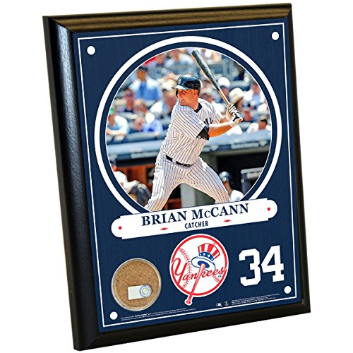 MLB New York Yankees Brian McCann Plaque with Game Used Dirt from Yankee Stadium, 8