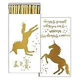 HomArt - Match Box Set of 2 - Magical Unicorn - Gold Foil
