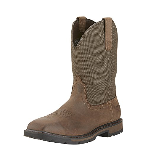 Ariat Mens Groundbreaker Sq Toe H20 Steel Toe Clogs/Shoes 11 D/Medium(Width) Palm Brown