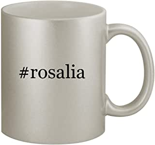 #rosalia - Funny Hashtag 11oz Silver Coffee Mug Cup