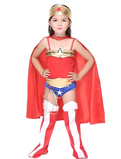 Amazon Com Deluxe Girls Superheroes Wonder Woman Halloween