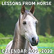 Lessons From Horse Calendar 2021-2022: April 2021 - June 2022 Square Photo Book Monthly Planner Mini Calendar