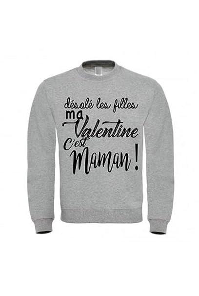 fashion boutik Pull - Sudadera para niño niños Desole Les Filles MA Valentine C EST Maman. del 6 al 12 años: Amazon.es: Ropa y accesorios