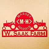 Massey Harris Tractor Sign with Custom Text (C23)