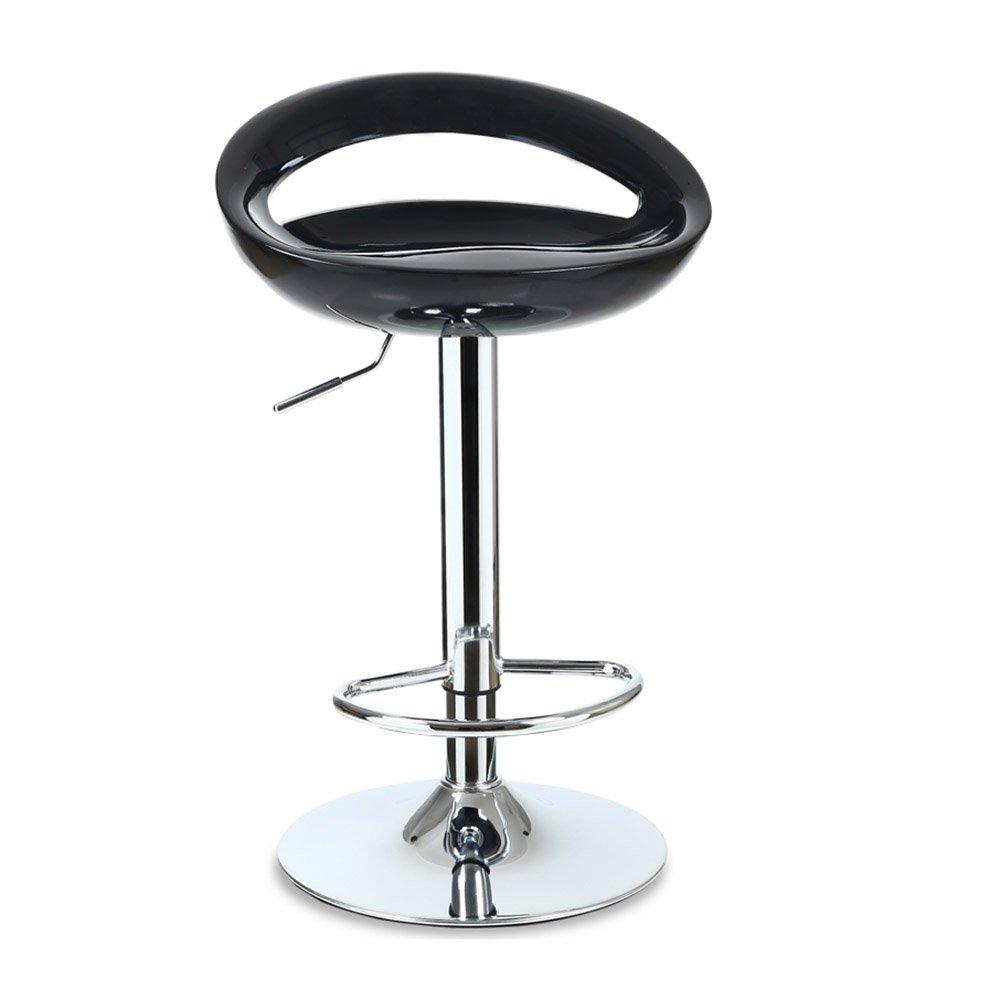 YANFEI チェアリフトバースツールバースツールフロントスツールハイスツール90-110CMテーブルに適したシンプルなバースツール (色 : Black) B07FBXXSHKBlack