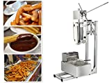 6L Deep Fryer Churro Making Machine Fried Twisted Stick Machine and 5L Capactity Plus Working Stand