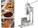 5L Churro Making Machine Spanish Churro Twisted Stick Machine with 6L Electric Deep Fryer