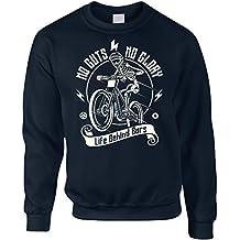 Cycling Sweatshirt No Guts No Glory Mountain Biking Bike