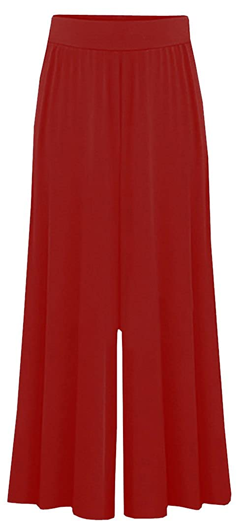 Dellytop Women's Loose Palazzo Trousers Wide Leg Pants Plus Size