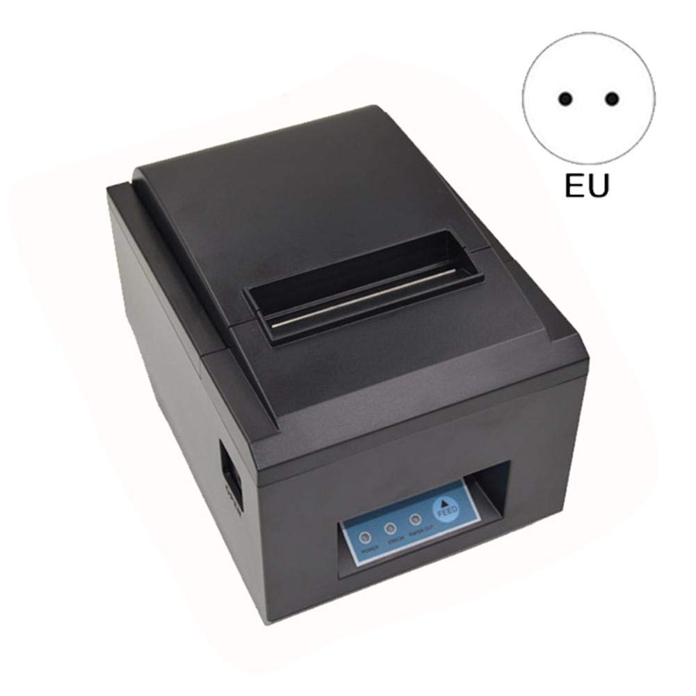 heresell imprimante de reçu Portable 80mm Étanche Résistant à l'huile USB Port série Port 3 d'interface Port série 3 Imprimante pour Retail POS Restauration Systèmes de Contrôle Industriels Noir