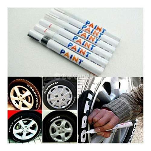 Universal Waterproof Permanent Paint Marker Pen Car Tyre Tire Tread Rubber Metal (white)