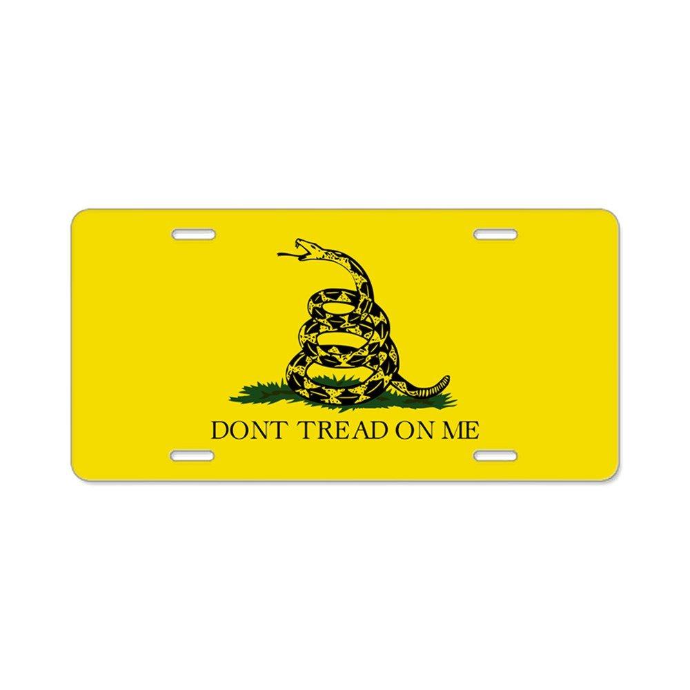 CafePress Don t Tread On Me//Gadsden Flagge Aluminium Lizenz Nummernschild