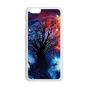 Artistic Magic Tree Galaxy Star Sky Phone Case for Iphone6 plus