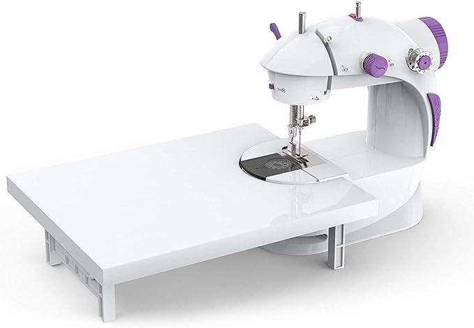 Mini máquina de coser, máquina de coser eléctrica portátil con pedal, para uso doméstico, herramienta de bricolaje manual para principiantes (sin batería): Amazon.es: Hogar