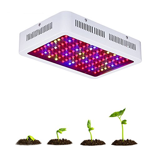 300W Led Panel Plant light, RAYWAY Full Spectrum Plant Grow Lights with UV & IR Added Daisy Chain Function for Hydroponic Greenhouse Indoor Veg Flower Seeding