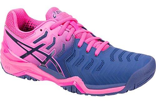 ASICS Womens Gel-Resolution 7 Tennis Shoe, Blue Print/Blue Print, Size 8.5