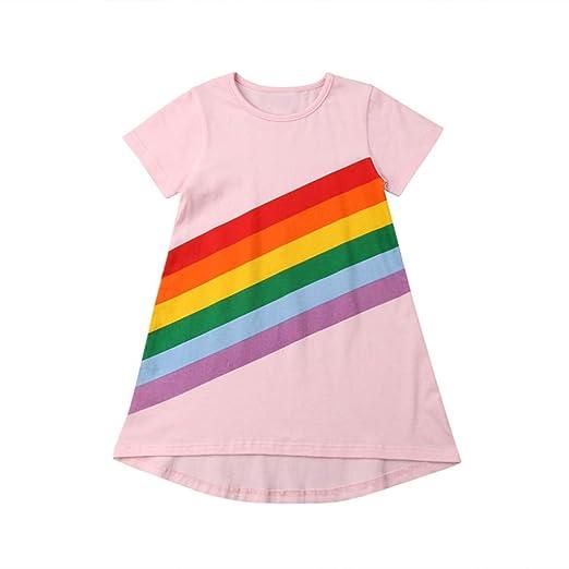 65d283e6abbce Amazon.com: Girls Dresses Casual, SMALLE◕‿◕ 2019 Baby Little Girls ...