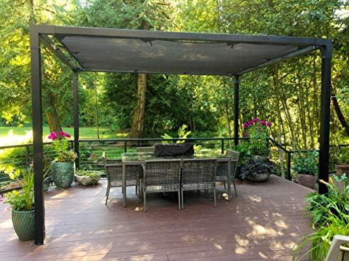 TOJAGRID Pergola Set 2, 4 m x 3 m Mat Zwart: Amazon.es: Jardín