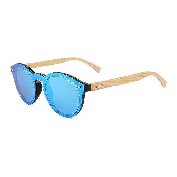 54e1e9b700 Buho Eyewear - Gafas de Sol Modelo Marbella - Unisex - Bamboo (Espejado Azul )