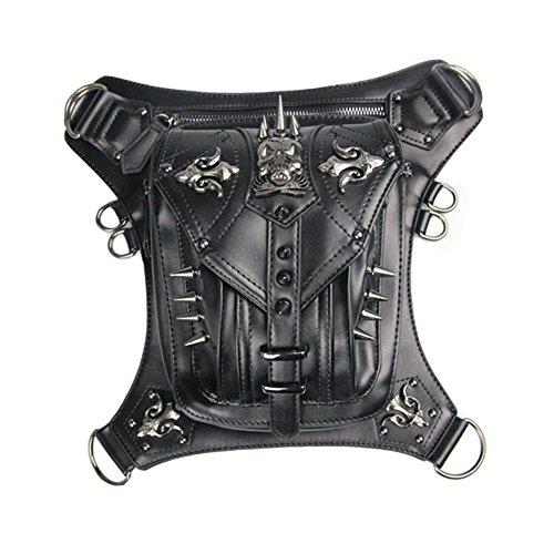 jackdaine Steam Punk Retro Messenger Bag Totenkopf Taschen