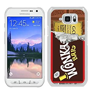 Personalized Custom Samsung Galaxy S6 Active Case,Willy Wonka Golden Ticket Chocolate Bar White Samsung Galaxy S6 Active Phone Case