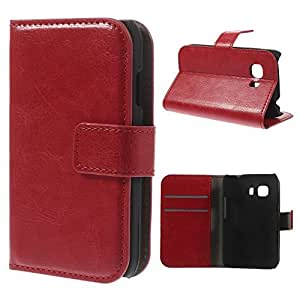 Samsung 0755563285325 - Funda cuero piel roja para galaxy young 2 / g130 rojo con soporte