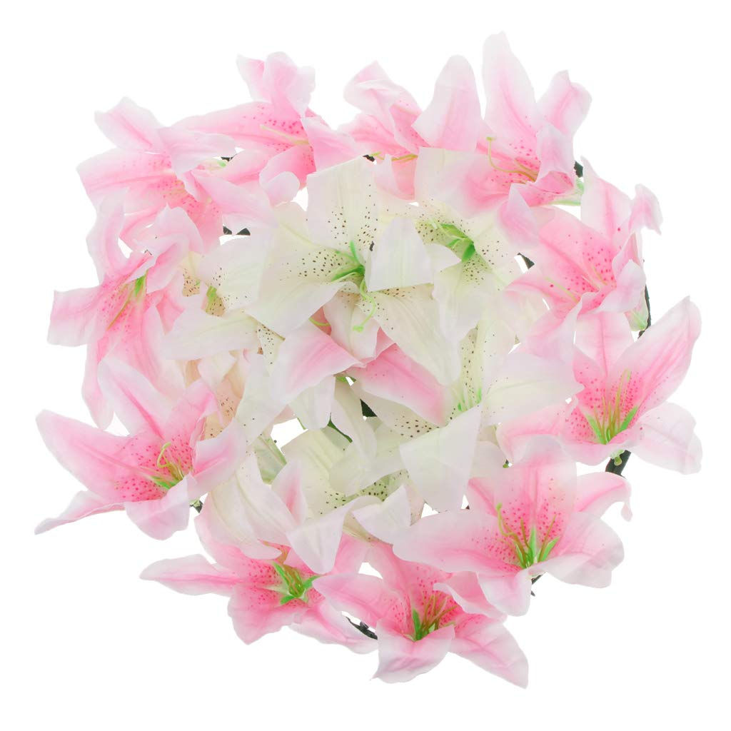 Baoblaze-Artificial-Lily-Funeral-Memorial-Silk-Flower-Wreath-Tomb-Sweeping-Cemetery-Flower-Wreath-Decoraion