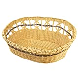 Yueunishi Rattan Kennel,Summer Doghouse, Handmade, Pet Bed Bamboo Mat Pet Dog Cat Bed Rattan Pets Bed Creative, Pet Nest Washable Basket, Pet Supplies 2 Colors 2 Sizes (M, brown)