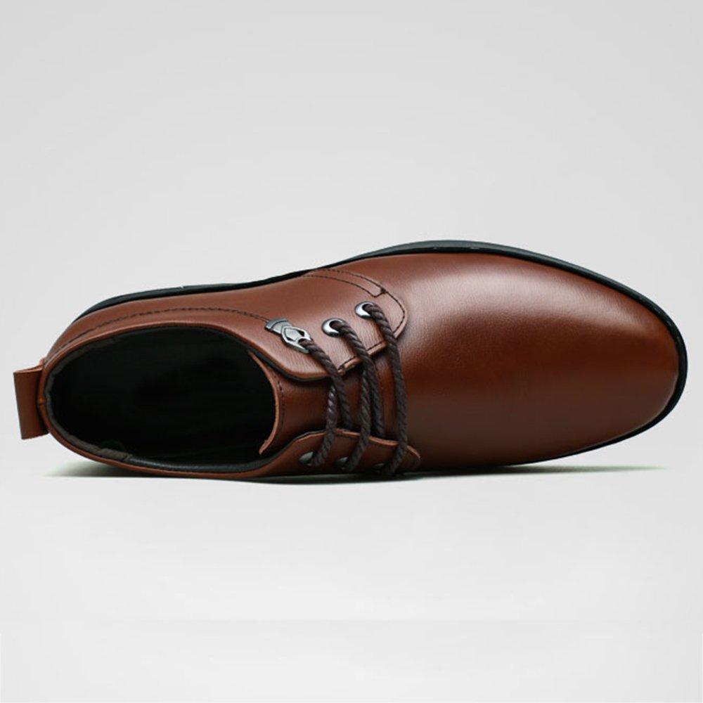 Männer Leder Derby Formale Rutschfeste Geschäfts Uniform Schuhe Lace Reise Up Arbeit Freizeit Hochzeit Reise Lace Oxford Schuhe Braun 7615d0