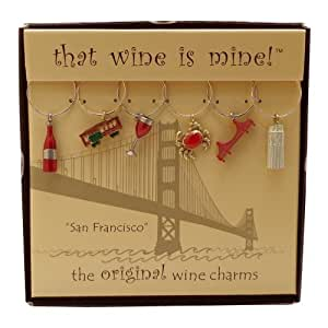 Wine Things WT-1445P San Francisco Wine Charms, Painted