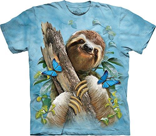The Mountain Sloth &Amp; Butterflies T-Shirt -