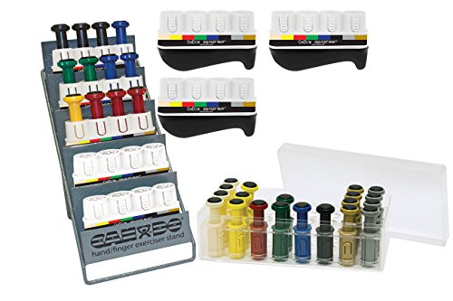 CanDo 10-3843 Digi-Flex Multi 8 Frame Clinic Pack, 32 Buttons, Tan/Yellow/Red/Green/Blue/Black/Silver/Gold by Cando