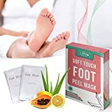 Foot Peel Mask - MY LITTLE BEAUTY - Exfoliating Foot Mask for Dry Skin (2 Pairs per Box)