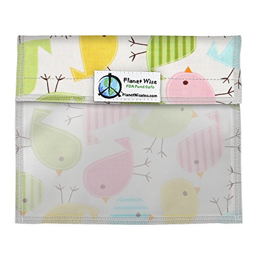 - Planet Wise Window Sandwich Bag, Chick-a-dees