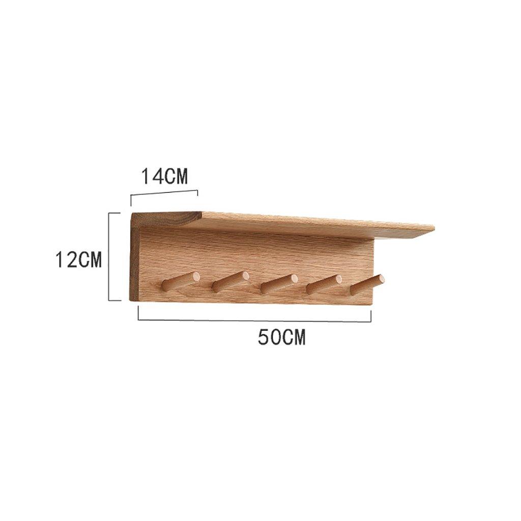 クリエイティブな木製の壁のオリジナルカラーコートラック、壁掛け棚のシェルター、3つのサイズのオプション (サイズ さいず : 50*14*12cm) 50*14*12cm  B07KVQP263