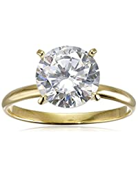Platinum-Plated Sterling Silver Round-Cut Cubic Zirconia Solitaire Ring (2.75 cttw)