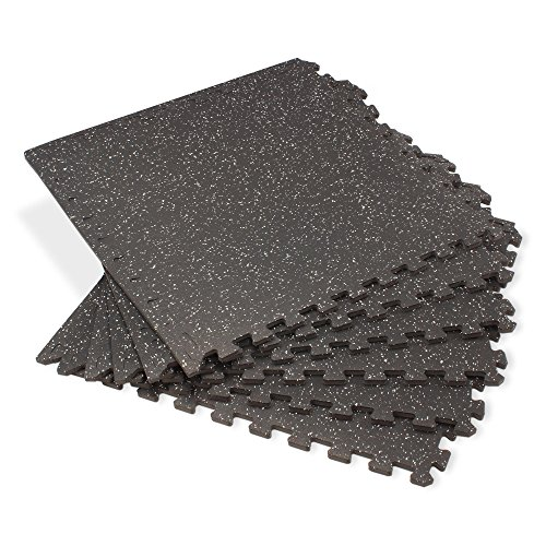Velotas Light Gray Fleck 100 Sq Ft (25 Tiles) Rubber-Top Interlocking EVA Mat