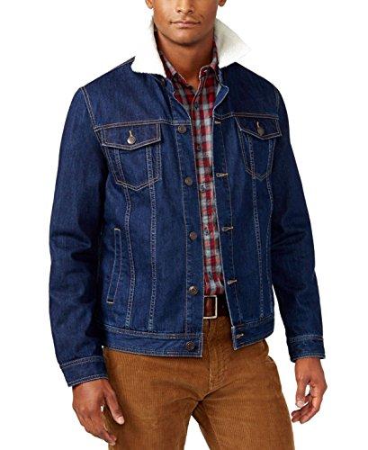 American Rag Mens Denim Trucker Jacket Dark Blue, XXL