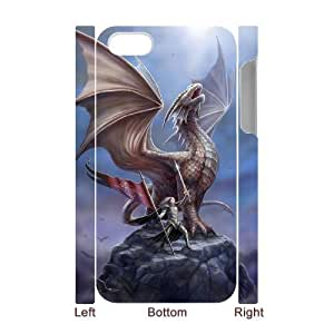 AKERCY Fantasy Drogon Phone 3D Case For Iphone 4/4s [Pattern-2]