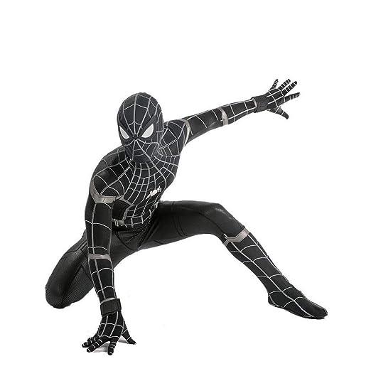 WEGCJU Traje Negro De Spiderman Adulto Niño Halloween ...