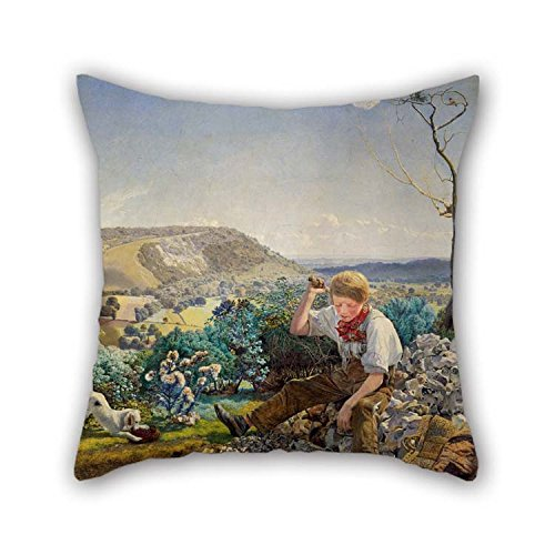 Oil Painting John Brett - The Stonebreaker Pillowcase 16 X 16 Inches / 40 By 40 Cm For Gf Gril Friend Study Room Chair Bedroom Girls With 2 Sides (Brett Wicker)