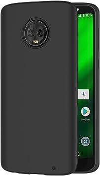AICEK Funda Moto G6 Plus, Negro Silicona Fundas para Motorola ...