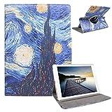 iPad 5th 6th Generation Case - iPad 9.7 inch Air1 2018 2017 Cover - 360 Degree Rotating Stand, Auto Sleep Wake - A1822 A1823 A1474 A1475 MR7F2LL/A MR7F2LL/A (Starry Night)