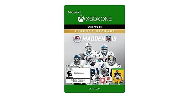 Amazon com: Madden 19 - Legends Upgrade - Xbox One [Digital