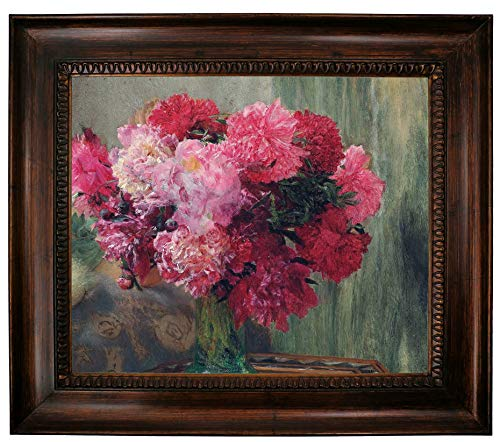 - Historic Art Gallery Japanese Peonies 1912 by Lawrence Alma Tadema Framed Canvas Print, Size 20x24, Gold