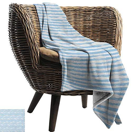 Michaeal Harbour Stripe,Custom Design Cozy Flannel Blanket,Soft Toned Nautical Uniform Brushstroke Simplistic Artful Lines Theme 70