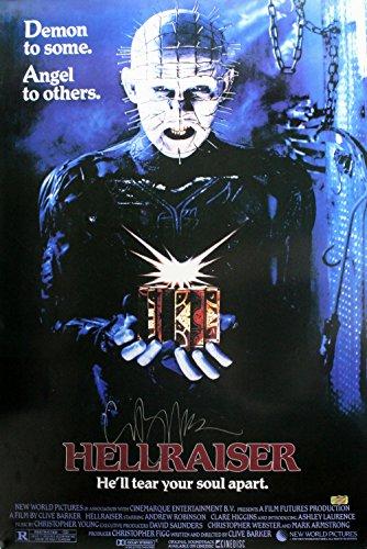 Clive Barker Autographed/Signed Hellraiser Full Size Poster (Hellraiser Autographed Poster)