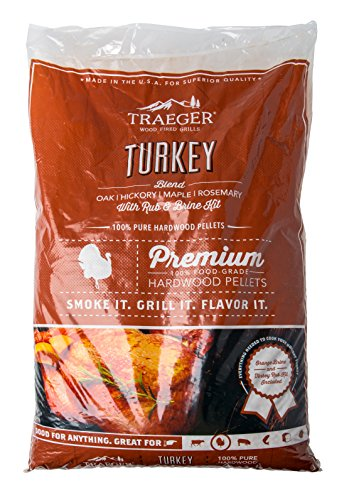 Traeger Grills PEL329 Turkey Blend 100% All-Natural Hardwood Pellets Grill, Smoke, Bake, Roast, Braise and BBQ, 20 lb. Bag