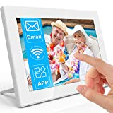 MRQ 10.1 Inch Touchscreen WiFi Digital Photo Frame, Support Email, Cellphone App (iOS and Android), 16GB Internal Storage Included Support USB Flash Drive and SD Card