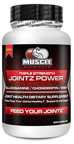 Мышцы Nutrientz Трехместный Сила JOINTZ мощность 200 - Глюкозамин 1500 мг - хондроитин 1200 мг - МСМ (Метилсульфонилметан) 2000 мг - Здоровье суставов пищевая добавка - помогает сохранить суставы здоровыми - Поддержка хряща - помогает поддерживать сильных